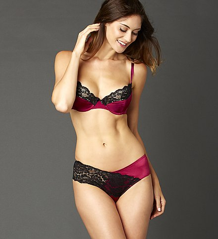 Indulgence Silk Bra and Lace Panty
