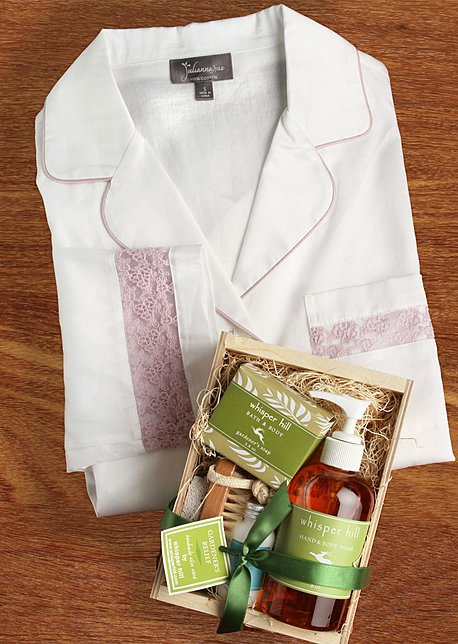 Sun Showers Sleepshirt and Spa Kit