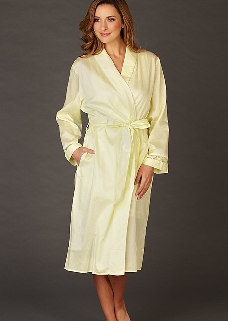 Pure cotton womens bathrobe, Sun Showers Cotton Robe