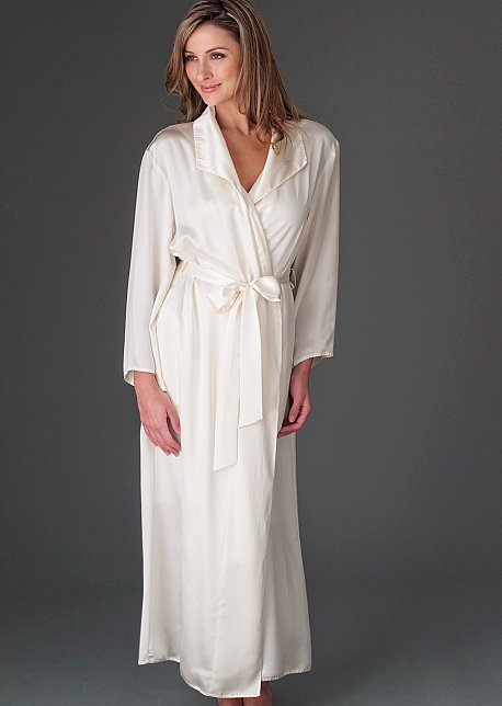 Evening Stroll Silk Robe - Full Length Luxurious Robe