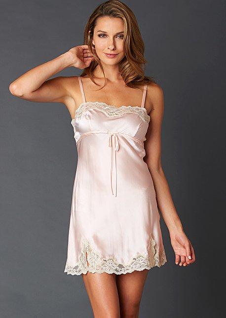 Sweet Indulgence Silk Chemise - Women's Sleepwear, 100% Silk Chemise