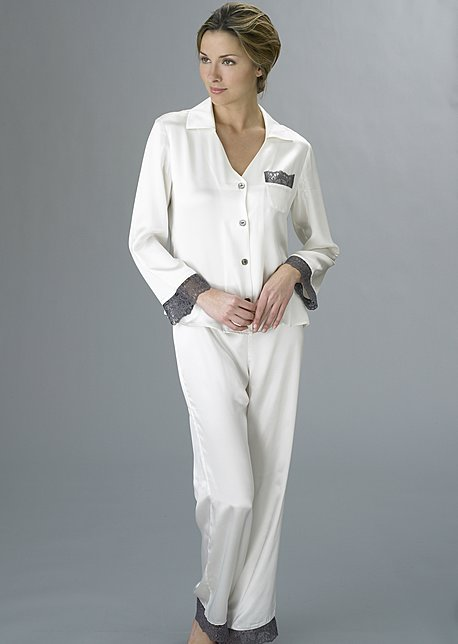 Luxury silk pajama, Bonsoir Pajama