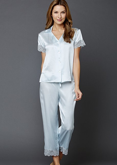 Tresor Delice Silk Pajamas - Luxury Silk PJ