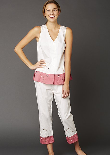 Daydreamer Sleeveless Cotton Pajamas - Short Cotton PJ