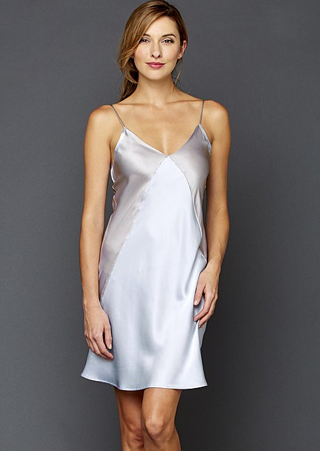 Charming Short Silk Nightgown
