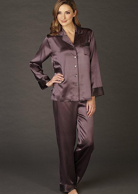 Evening Lounge Silk Pajama - Silk Nightwear, Ladies Silk Pajamas