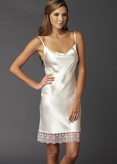 Camille Silk nightgown, silk chemise