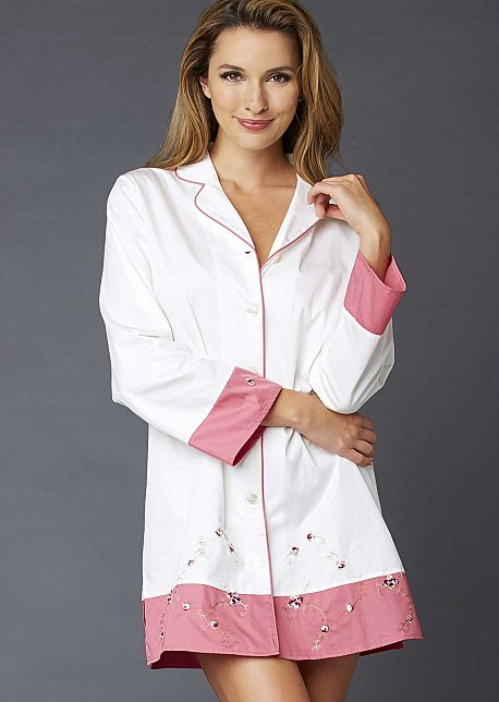 Sweet Dreams Cotton Sleepshirt - Natural Fiber