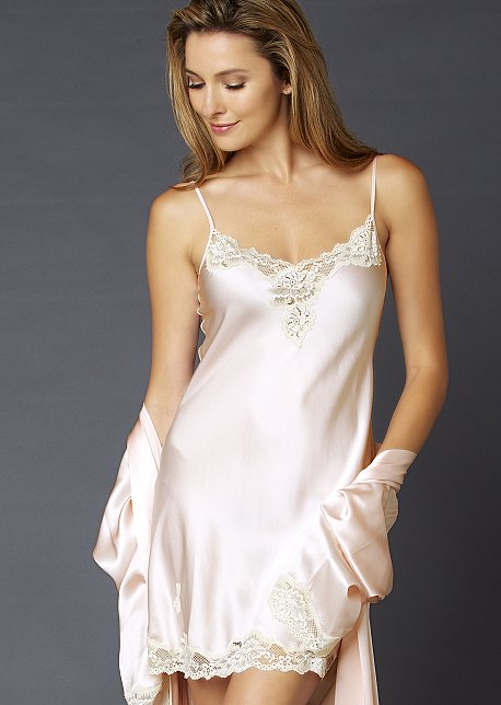 Indulgence Silk nightgown, silk slip