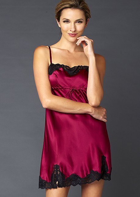 Sweet Indulgence Silk Chemise - Women's Short Nightgown