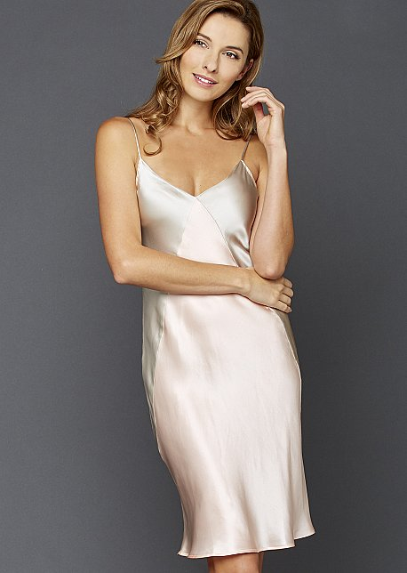 Charming Short Silk Nightgown