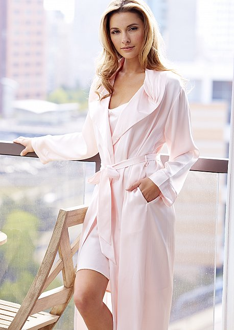 Ariadne Silk Robe - Regular and Petite Sizes