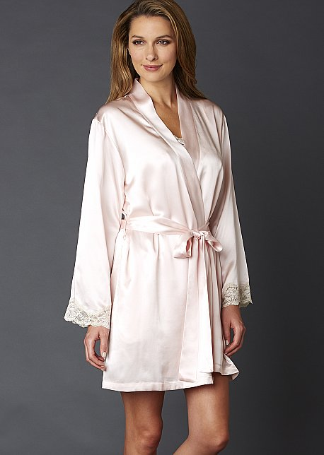 Indulgence Silk Wrap - 100% Silk Robe, Luxury Short Robe
