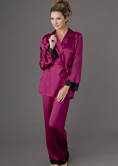 Indulgence Silk Wrap Pajama - Regular and Petite Sizes