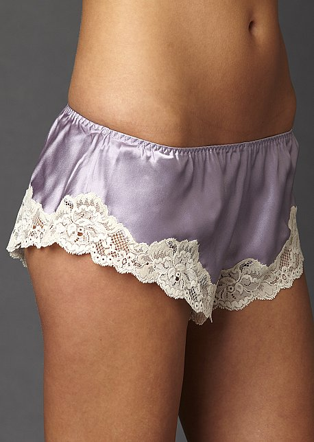 Indulgence silk  and lace pantie, boy short