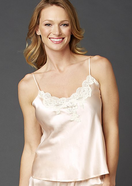 Le Tresor Silk Camisole Top - Intimate Silk Cami