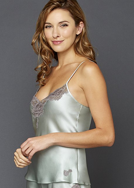 8a5a21d1bea86 Luxury Silk Camisole with Lace