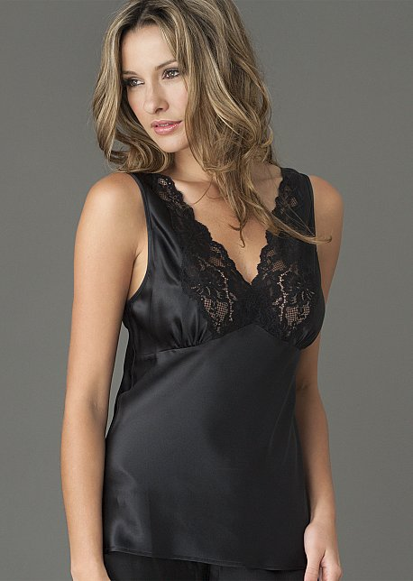 Perfect Indulgence Silk Cami Top - Sexy Lace Camisole