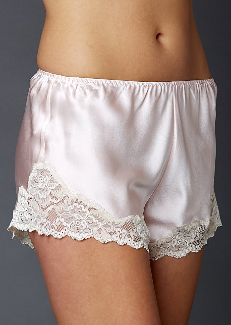 Sweet Indulgence Silk Tap Pant - Silk and Lace Tap Pant, 100% Silk