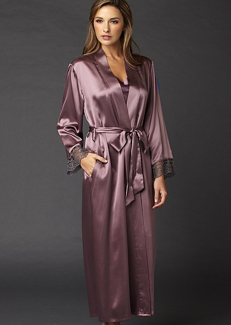 Le Soir silk full length bathrobe