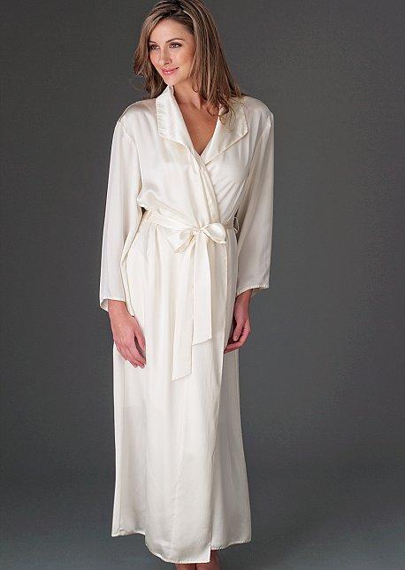 Evening Stroll Silk Robe - Full Length Luxurious Robe