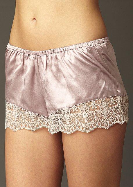 Le Soir Dream Tap Pant - 100% Silk Tap Pant with Lace