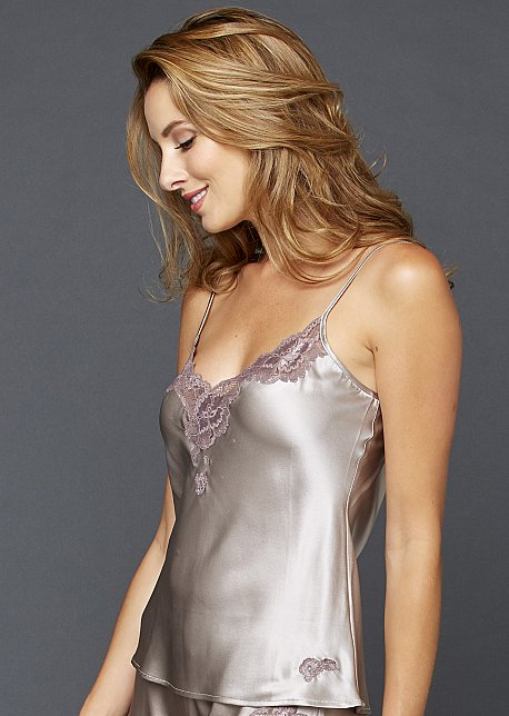 Luxury Silk Camisole with Lace