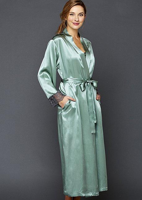 Le Soir silk full length bathrobe
