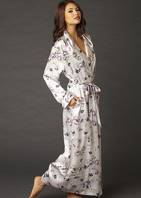 Ariadne Silk Robe - Regular and Petite Sizes