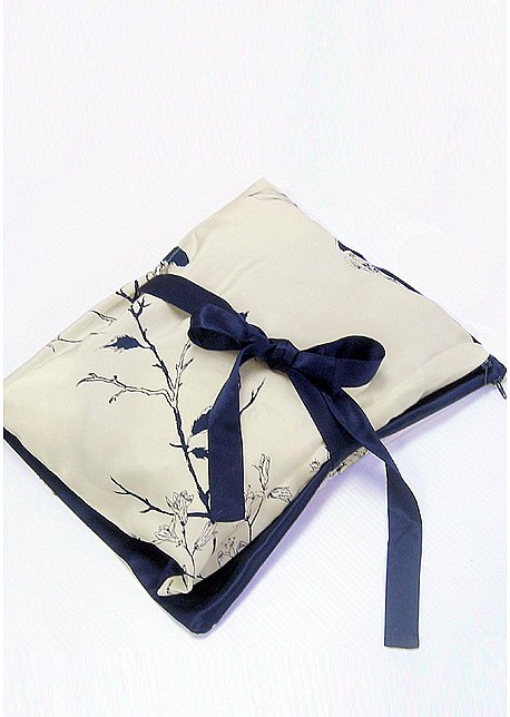 Silk lingerie travel bag - Midnght Flight