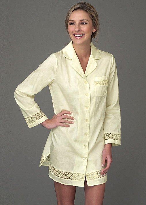Sun Showers Cotton Sleepshirt, Natural Fiber