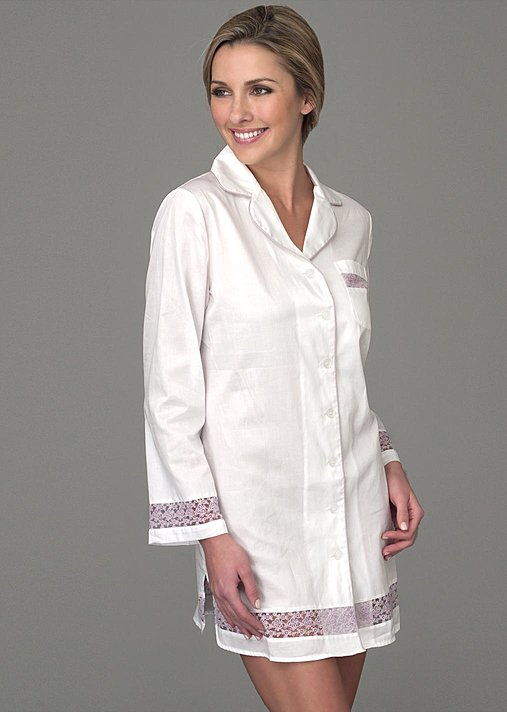 Sun Showers Cotton Sleepshirt - Luxury sleepwear