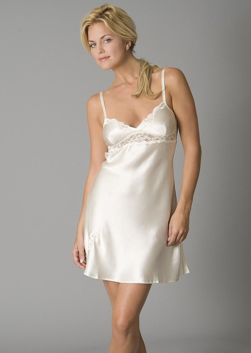 Evening Indulgence Silk nightgown, slip chemise