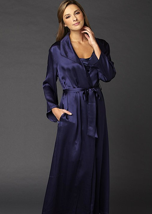 Evening Stroll Robe Petite - Luxury Silk Petite Robe