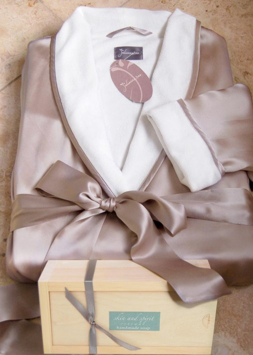 Wrapped in Luxury Spa Gift Set - Silk Spa Robe Gift Set