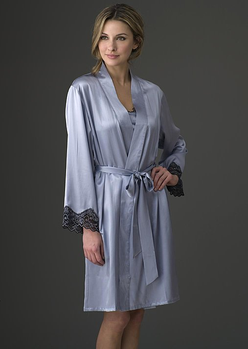 Aviana Silk Short Robe, luxury silk wraps and robes