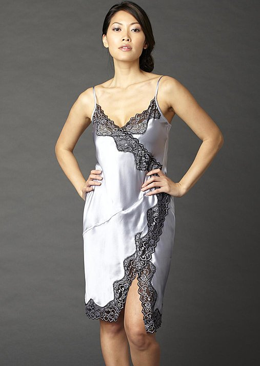 Avian Silk short nightgown, silk slip