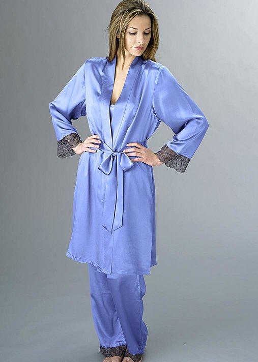 Bonsoir Wrap, luxury short silk robe