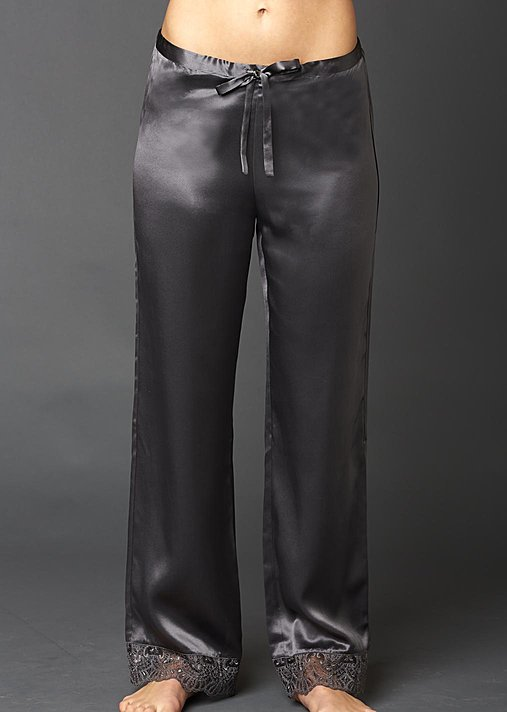 Le Soir Silk Lounge Pant  Petite, silk pj pant