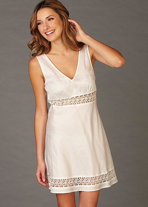 Fine Cotton Nightgown, Sun Showers Cotton Chemise