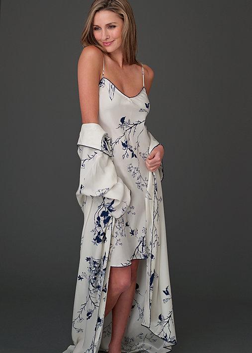 ccfb2e9a4c Midnight Stroll Silk Robe - Floral Print