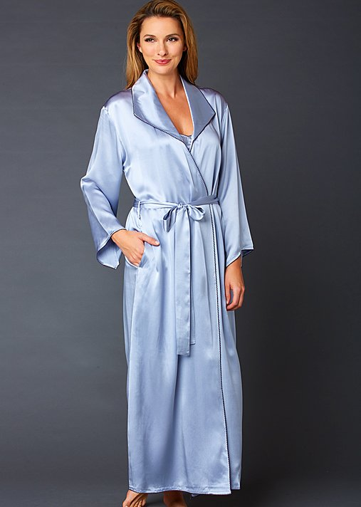 Evening Stroll Silk Robe - Long Silk Robe