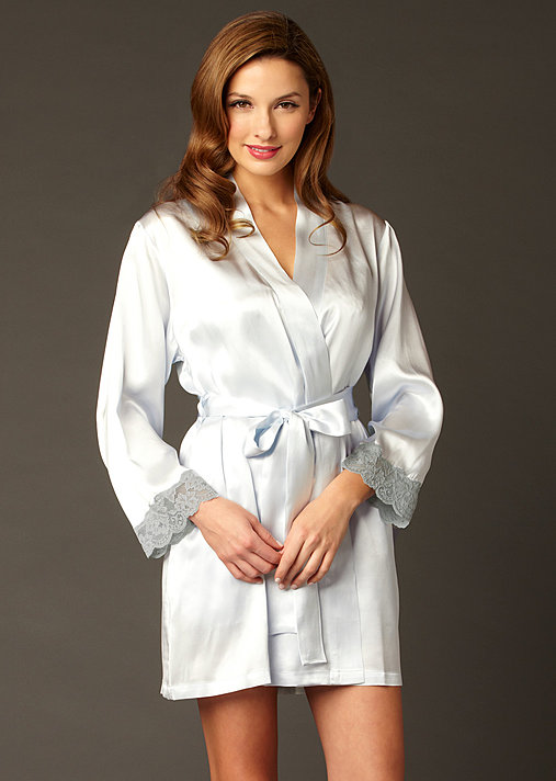 Le Tresor Silk Wrap - Luxury Short Robe