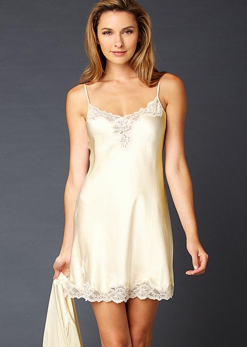Indulgence Silk nightgown, silk slip