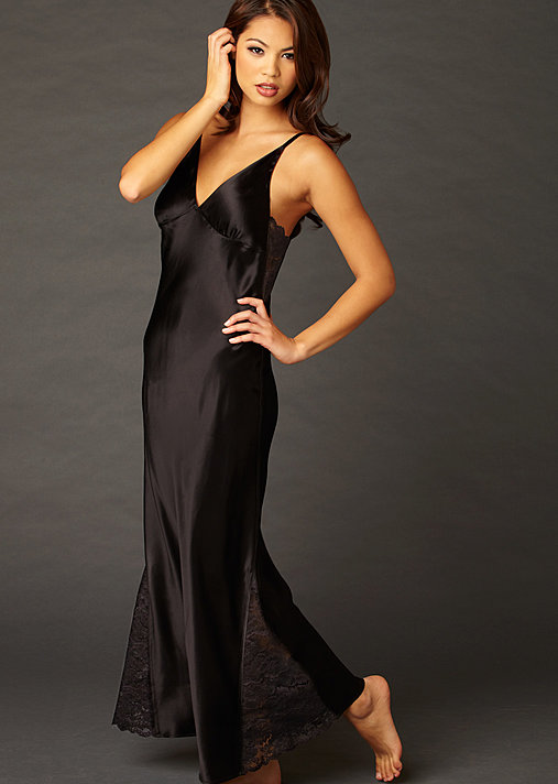Ariadne Silk Long Gown - Luxury Silk Nightgown