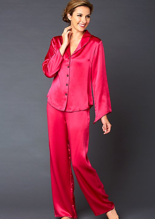 Devon Silk Pajama Petite - Women's Silk Pajamas, Short Pajamas