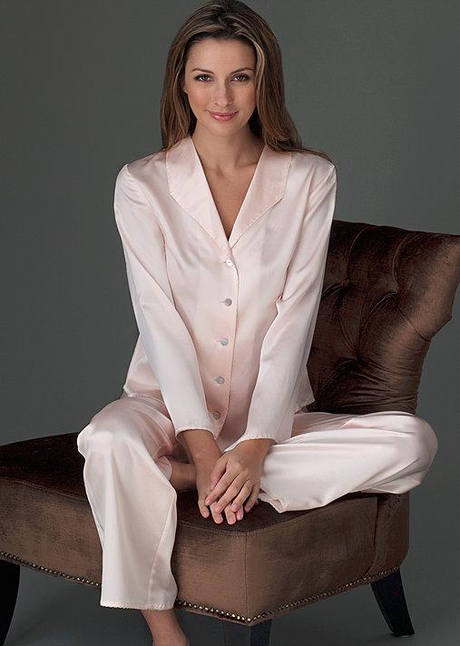 Luxury Petite Silk Pajamas, Devon Silk PJ petite