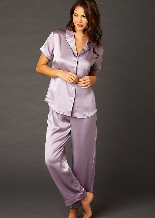 Amelie Silk Pajama - Short Sleeved Silk PJ