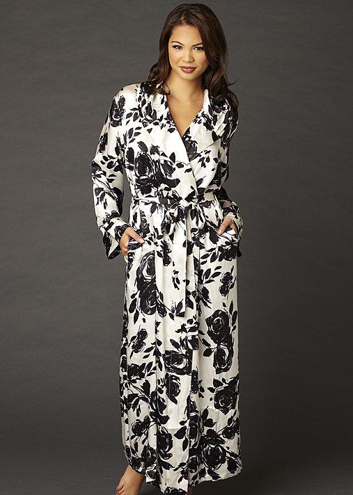 Ariadne Silk Print Robe - Floral Silk Robe