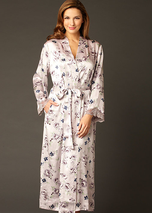 Indulgence Silk Print Robe - Women's Silk Print Robe